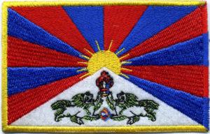 Vlajka Tibetu na vysivke