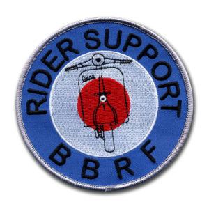 Nášivky pro Nadaci britských motorkářů
