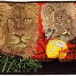 nášivka lva v Africe